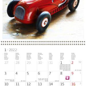 Muurkalender Toys 2022 Januari