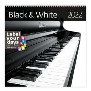 Muurkalender Black & White 2022