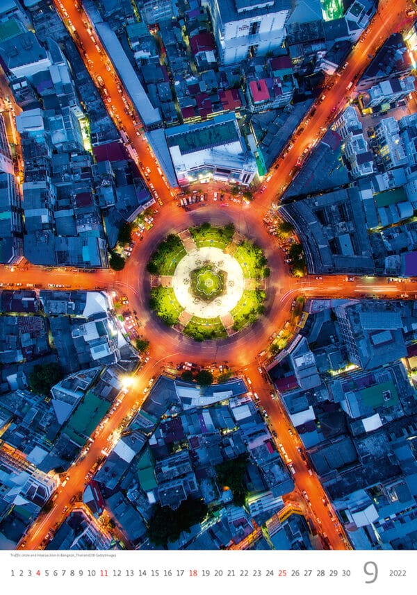 Muurkalender World from Above 2022 September