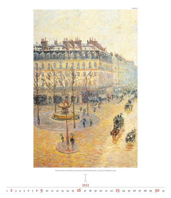 Kunstkalender Impressionism 2022 Januari