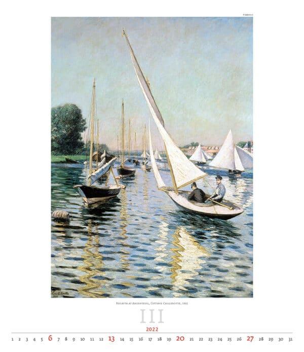 Kunstkalender Impressionism 2022 Maart