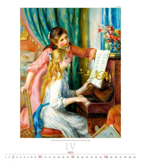 Kunstkalender Impressionism 2022 April