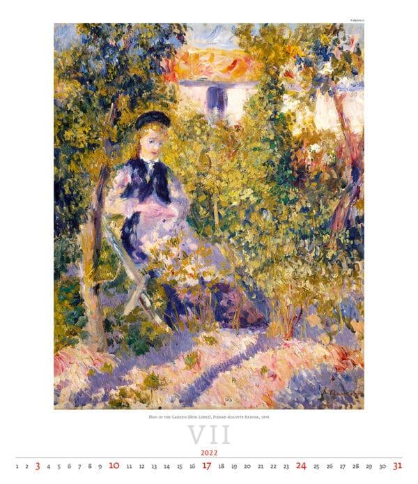 Kunstkalender Impressionism 2022 Juli