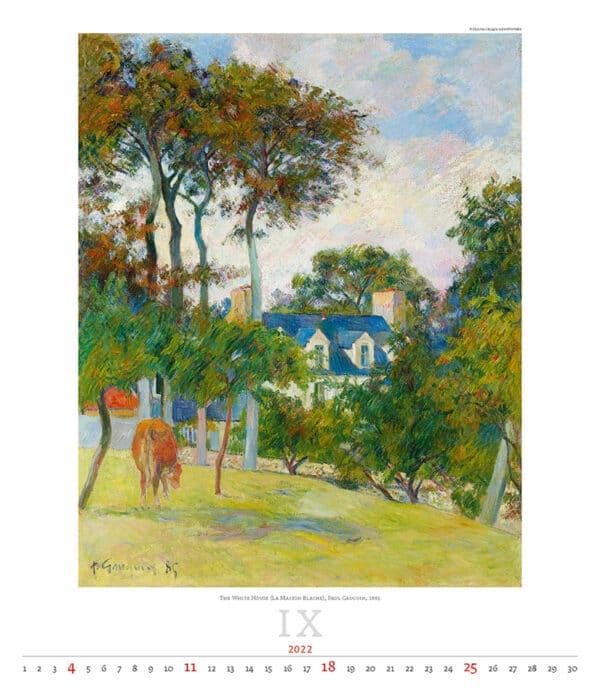 Kunstkalender Impressionism 2022 September