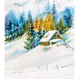 Kunstkalender Aquarelle 2022 Januari