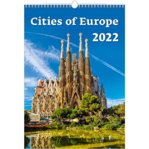 Muurkalender Cities of Europe 2022