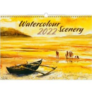 Muurkalender Watercolour Scenery 2022