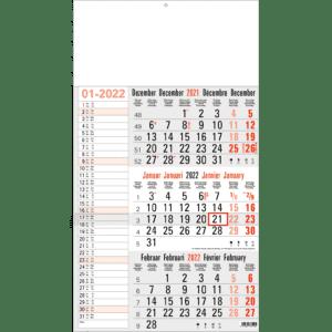 3-maandkalender 2022 Memo grijs
