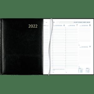 Plan-a-week gebonden 2022 zwart