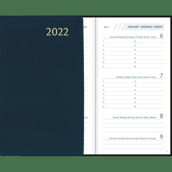 Visuplan gebonden 2022 Blauw
