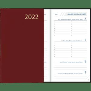 Visuplan gebonden 2022 Bordeaux