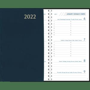 Agenda Visuplan spiraal 2022 Blauw