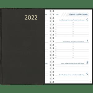 Agenda Visuplan spiraal 2022 Zwart
