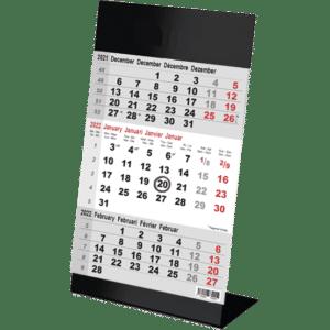 Kantoorkalender 3 maand Color zwart 2022
