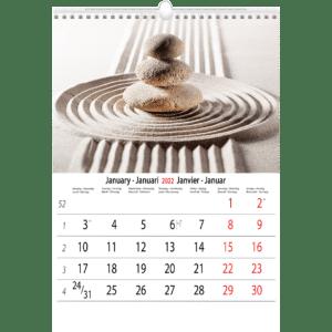 Muurkalender Meditation 2022 Januari